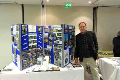 Nino with our stand at the Southport ceremony for Britain in Bloom
