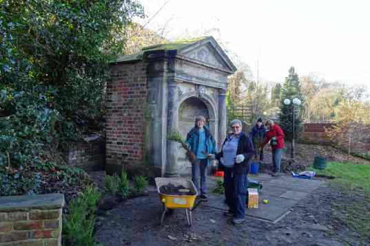 Planting the Yew Hedge